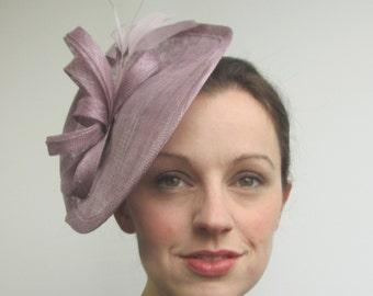 Lilac Hatinator - Races Hat, Wedding Hat, Fascinators, Lilac Hat, Lilac Headpiece, Lilac Percher, Saucer Hat, Tea Party