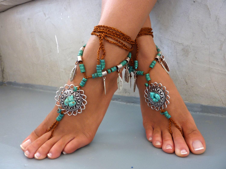 Wedding Foot Jewelry diona barefoot sandals beach jewelry gemstones hippie