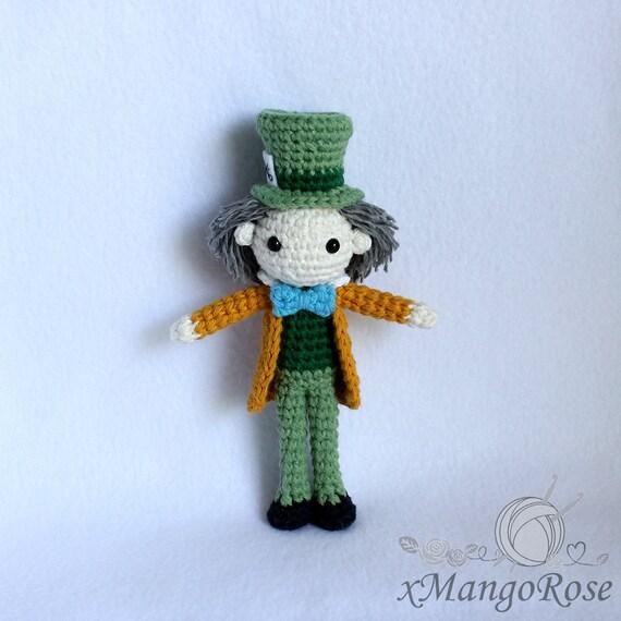 Mad Hatter Amigurumi : Mad Hatter from Alice in Wonderland Doll Amigurumi by ...