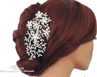 Bridal hair piece, Wedding hair piece, Crystal rhinestone hair piece, Bridal headpiece, Wedding headpiece, Wedding hair comb 3168
