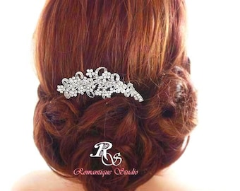 Wedding comb vintage style bridal hair comb rhinestone hair comb crystal hair comb bridal hair accessories 5120