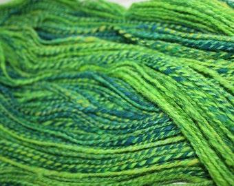 Fractal handspun wool yarn