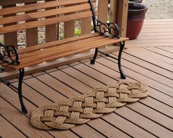 Outdoor Rug - Rope Mat - Rope Rug - Nautical Decor - Manila Rug - Front Door Mat - Prolong Mat