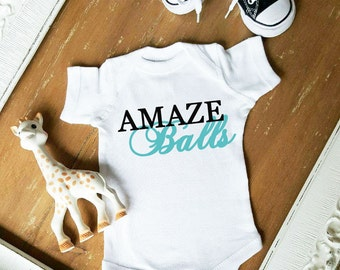 AMAZE BALLS Custom Color Bodysuit by Simply Chic Baby Boutique