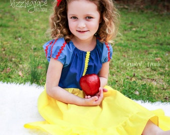 Snow White Inspired Dress- Snow White Dress- Princess Dress- Snow White Costume- Snow White- Snow White and the Seven Dwarfs - Disney Outfit