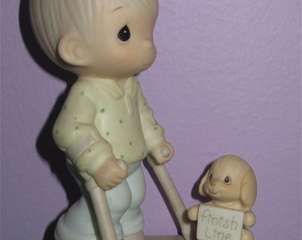 1987 Precious Moments Blessed Are They That Overcome Figurine By Enesco (Special 1988 Limited Edition) - Free Shipping