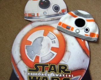 star wars BB8 inspired crochet hat- The Force Awakens
