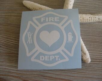 Firefighter Emblem Car Decal - Firefighter Car Decal - Fireman Car Decal - Fireman Monogram Car Decal - Firefighter Emblem - Firefighter