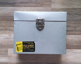 Ballonoff Metal Lock Box File-A-Way Letter Porta File with Key