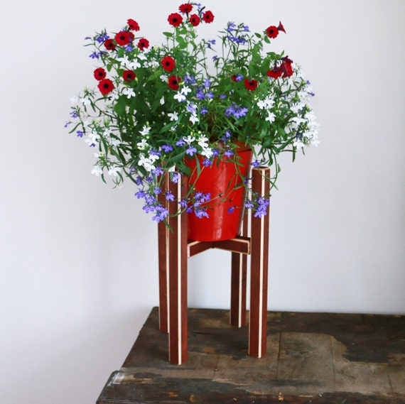 Items Similar To Modern Wooden Planter Plant Stand Mid