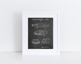 1962 Chevrolet Covair Super Spyder Concept Patent Print, Chevrolet Sign, Garage Decor, Concept Art, Car Enthusiast, PP0489