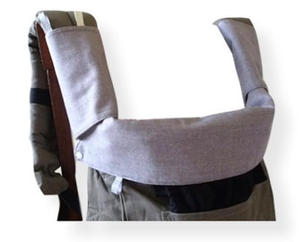 Manduca,Ergo Original/Organic/Performance Bib,Drool Pads,Topper,Teething Pads,Purplish Grey Denim,SCC Baby Carrier Accessory,Ergobaby,Soft