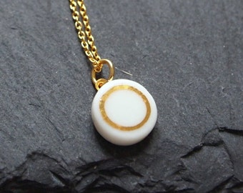 Porcelain necklace small