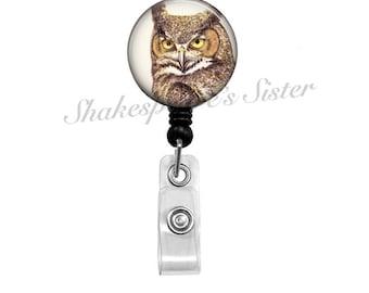 Owl Badge Reel - Badge Reel - Retractable Badge - Owl Badge - ID Holder - Nurse Badge Reel
