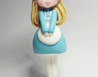 Alice in wonderland action figure, polymer clay