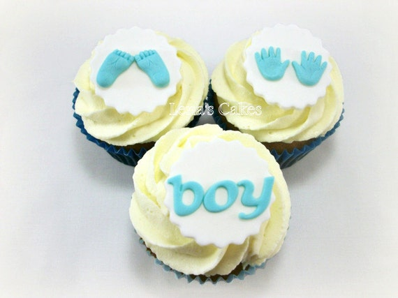 Baby Fondant Cupcake Edible Toppers Baby Feet Baby Hands Toppers