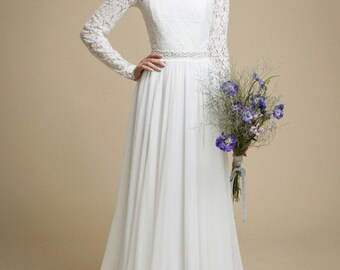 A Line Wedding Dress Etsy
