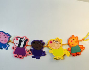 Peppa Pig and Friends Inspired Characters Banner
