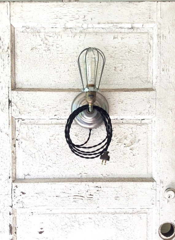 Vintage Plug In Wall Sconces : Vintage Industrial Plug-in Wall Sconce