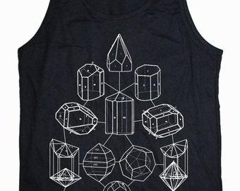 Men's CRYSTAL MATH Tank Top Cosmic Mineral PowerSacred Geometry Shirt