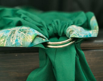 Baby ring sling - Baby Carrier - Beads as a gift - Green