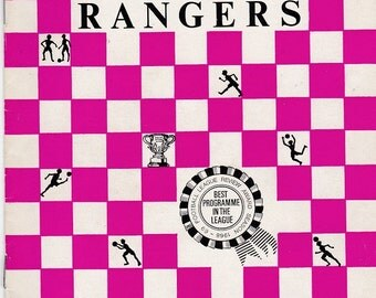 Vintage Football (soccer) Programme - Queens Park Rangers v Leicester City, 1969/70 season