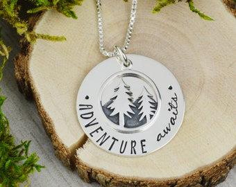 Adventure Awaits Necklace in Sterling Silver