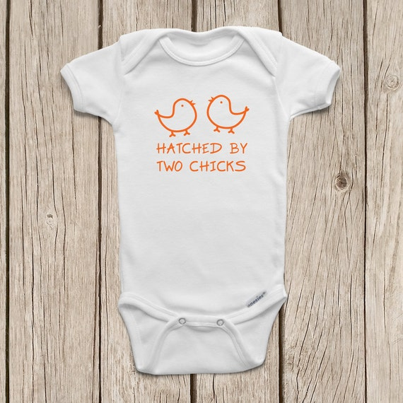 Hatched By Two Chicks Onesies 174 Brand Bodysuits By Mamiorigami