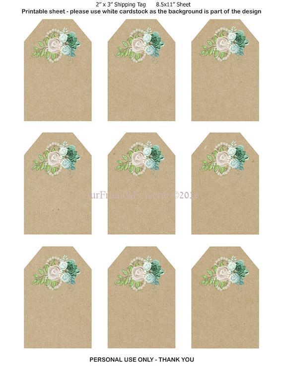 Wedding Gift Tags To Print : printable wedding favor tags, printable tags, digital floral tags ...