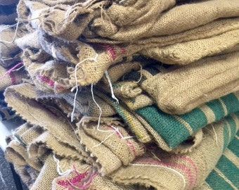 Burlap Coffee Sacks 3.00 each sold in bundles of 5