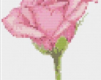 Rosebud Cross Stitch Chart PDF