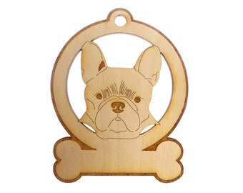 French Bulldog Ornament - French Bulldog Gifts - French Bulldog Memorial - French Bulldog Art - French Bulldog Ornaments - Personalized Free