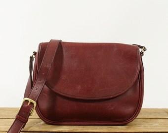 Vintage Coach Purse - Coach Bag - Shoulder Bag - Vintage Handbag Designer Large Brass Classic 80s