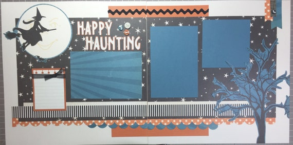 Happy Haunting - Halloween 12x12 Premade Page or Kit