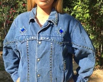 Pioneer wear,denim jacket,medium,1980s, coat,jean jacket