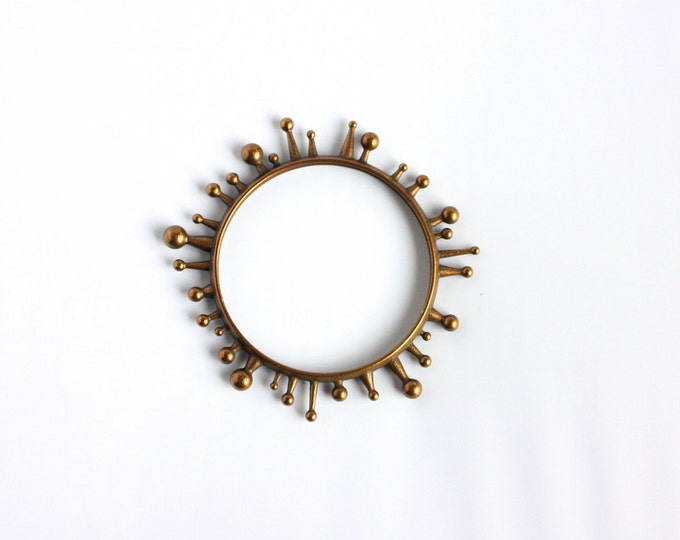 """Sundew"" Bracelet in Bronze-Infused Steel"