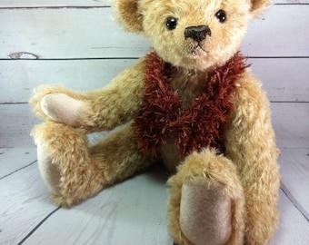 Artist Teddy Bear, OOAK teddy, Collectors bear, Artist Bear, One of a kind, Mohair Collectors Bear, OOAK Artist Teddy, Tulip Bears, Keepsake