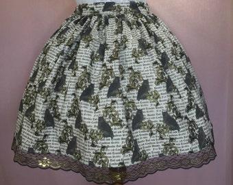 Owl Gold Filigree Lolita Skirt