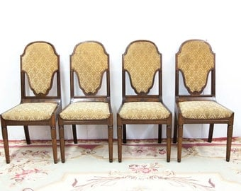 Set of Four Dutch Carved Chairs
