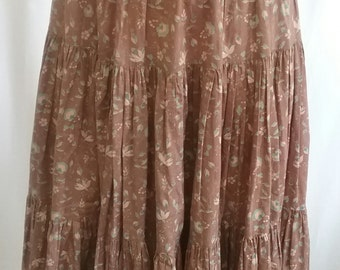SALE! Vintage Laura Ashley Skirt made in Carno, Wales, UK c.1970s