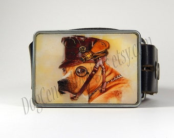 Belt Buckle Steampunk Pit Bull Type Dog Belt Buckle Large Pitbull Clothing Steampunk Buckle Mens Gift Fathers Day Gift Gift for Her