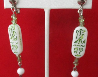 Pair of Vintage Egyptian Revival Clip-On Earrings
