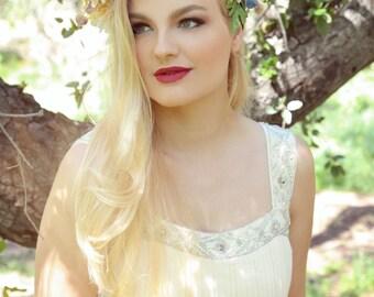 Flower Crown/ Flower Headdress/ Floral Headdress/ Day of the Dead/ Hippie/  Flower Child/ Bridal/ Bohemian/ Hair Wreath/ Flower Head Piece/
