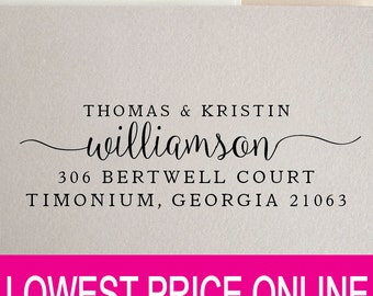 Personalized Custom Return Address Stamp - Great Wedding, Newlywed, Housewarming, New Home, Realtor Gift! Self inked, Pre-inked RE816