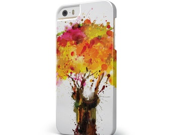 Watercolor Splattered Tree - iNK-Fuzed Hard Case for the Apple iPhone - Samsung Galaxy & More