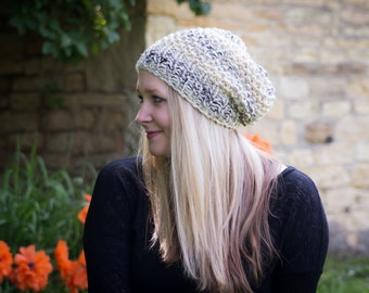 Chunky Slouchy Knit Hat / Winter Knit Hat // THE NADIA// Custom Colors