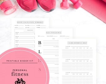 Weight Loss & Personal Fitness Binder Kit  - A Printable PDF