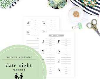 Printable Date Night Planner