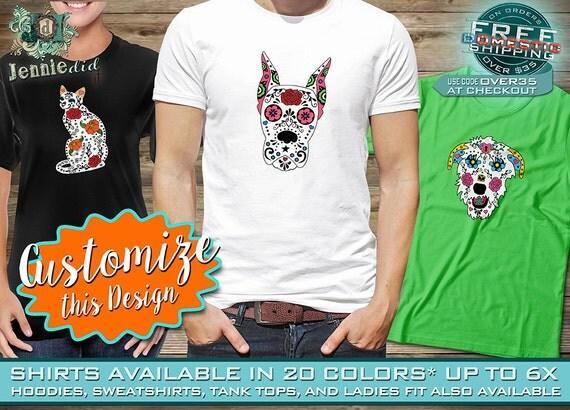 Sugar Skull Dog, Cat, Great Dane, Wolfhound, Pit Bull, Labrador ...