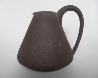 HT Hamelner Töpferei german ceramic handled vase,relief vase,Vintage pottery vase,collectible ceramic,german Vintage pottery,pitcher,jug